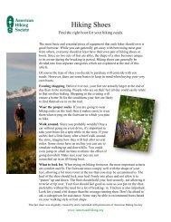 Hiking Shoes - American Hiking Society