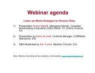 Presentation Slides for Listen up! Media ... - Cities of Migration