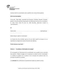 Contrat relatif à la coordination de la qualité et de la sécurité des ...