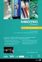 PROGRAMME DES CONFÉRENCES - MEDTEC France
