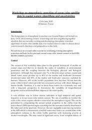 Workshop on atmospheric correction of ocean color satellite data in ...
