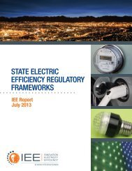 State Electric Efficiency Regulatory Frameworks (July 2013)