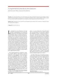 La singularidad de la demanda de activos financieros - extoikos