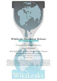 (CVN-78) Class Aircraft Carrier Program - WikiLeaks CRS reports