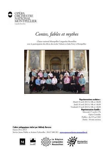 Contes, fables et mythes - Opéra Orchestre National Montpellier