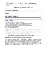 Rapporto di riesame Biotecnologie (I Livello) - Scuola Universitaria ...