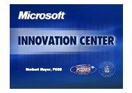 Norbert Meyer - Microsoft Innovation Center - Centrum Innowacji ...
