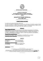 SÉANCE DU CONSEIL MUNICIPAL DU 24 MAI 2012 ... - Franconville