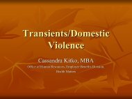 Transients/Domestic Violence
