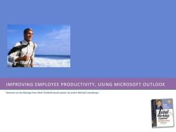 improving employee productivity, using microsoft outlook - Michael ...
