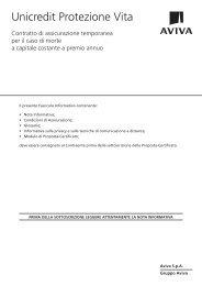 2. condizioni di assicurazione unicredit protezione vita - Aviva