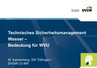 Bedeutung für WVU - DVGW Baden-Württemberg