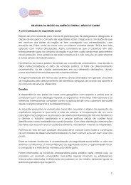 Relatório da Região – América Central-Caribe-Norte - Conselho ...