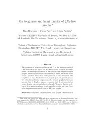 On toughness and hamiltonicity of 2K 2-free graphs - University of ...