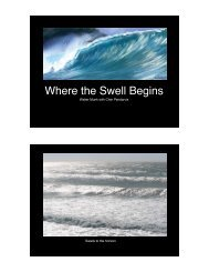 Where the Swell Begins - Satellite Geodesy at the Scripps Institution ...