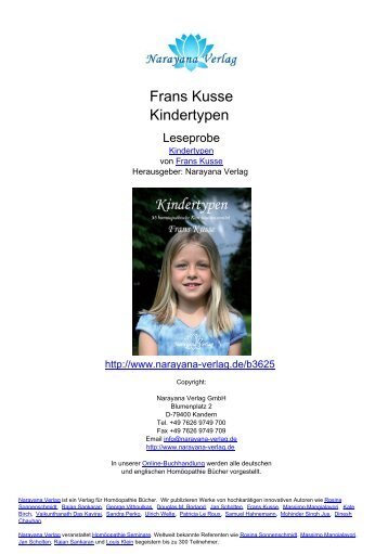 Frans Kusse Kindertypen - Narayana Verlag GmbH