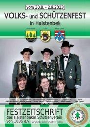 Festzeitschrift (3,1 MB) - Halstenbeker Schützenverein von 1886 e.V.