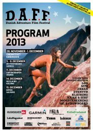 DAFF 2013 program - Danish Adventure Film Festival