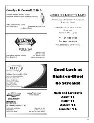 Good Luck at Night-in-Blue! Go Streaks! - Magnificat High School