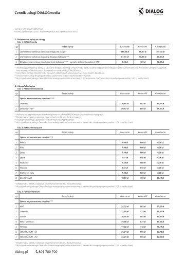 Cennik uslugi DIALOGmedia (RN-OM2) (DIALOG).indd