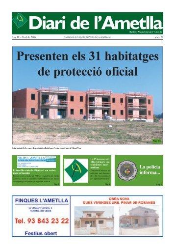 Diari Abril de 2006 - Ajuntament de L'Ametlla del Vallès
