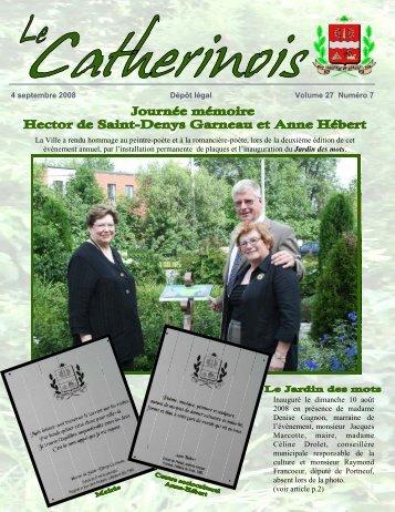 Catherinois - Ville de Sainte-Catherine-de-la-Jacques-Cartier