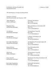 Cirkulär nr 2 2009 Nyintagna ledamöter 2009-01-30