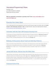 International Programming E-News - ASU International - Arizona ...