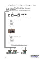 Wiring scheme of a shooting range without power supply - Meyton.info