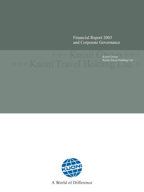 Financial Report 2003 (english) PDF • 287.26 KB - Kuoni Group