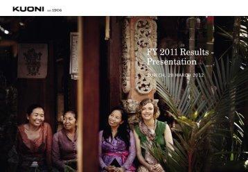 Investors Presentation Interim Results 2011 - Kuoni