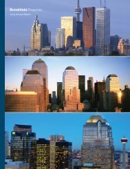 2005 Annual Report - Brookfield Properties