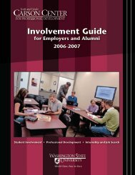 Involvement Guide - College of Business - Washington State ...