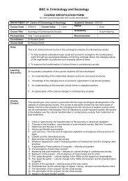 CR2014 Sociology of Contemporary Society