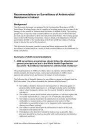 Recommendations on Surveillance of Antimicrobial Resistance in ...