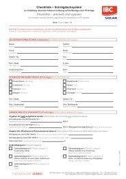 Checkliste – Schrägdachsystem Checklist – pitched roof system