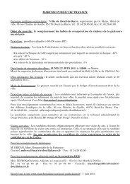 Personne publique contractante : Groupement de ... - Deuil-la-Barre