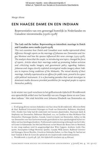 Een Haagse Dame En Een Indiaan - Vijfeeuwenmigratie.nl