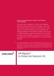 HR-Migrator® im Einsatz bei Swisscom AG - Advellence