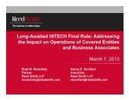Presentation Slides - Reed Smith