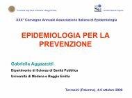 L'epidemiologia per la prevenzione (116 Kb ) - Associazione Italiana ...