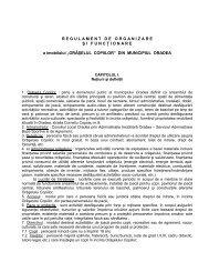 Regulament de organizare şi funcţionare - Aioradea.ro
