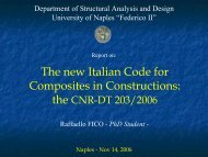 The new Italian Code for Composites in Constructions: