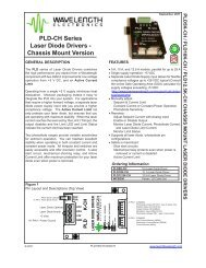 PLD-CH Series Chassis Mount Laser Diode Driver Datasheet