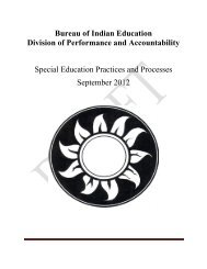 Special Education Practices and Processes - Bureau of Indian ...