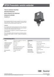 RP2N Presostato versión estándar - Baumer