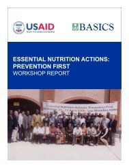 Essential Nutrition Actions: Prevention First Workshop Report - basics