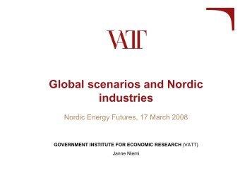 Global scenarios and Nordic industries - Nordicenergyperspectives ...