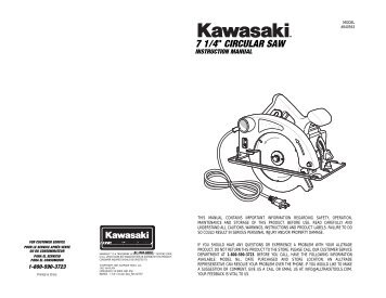 Kawasaki 7 1:4in Circular Saw - Alltrade Tools