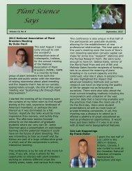 September 2012 - Department of Plant Sciences & Plant Pathology ...